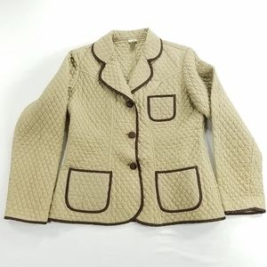 Kiko Pure Silk Quilted Jacket Blazer Coat